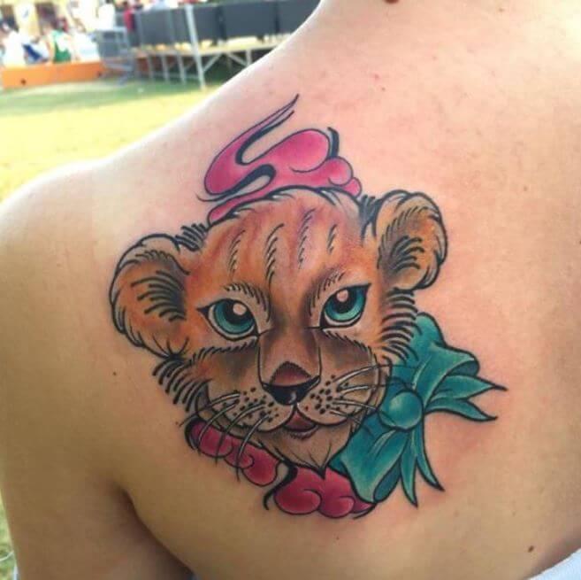 Baby Lion Tattoo