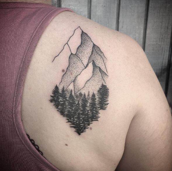 Back Tree Tattoos