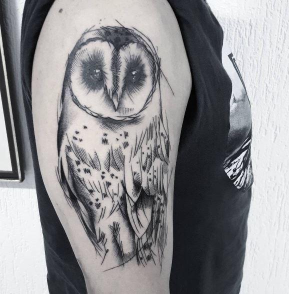 Barn Owl Tattoos