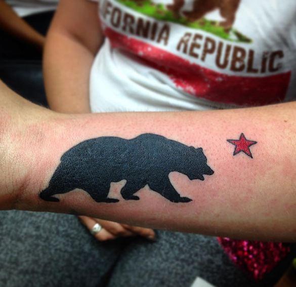 Bear And Star California Tattoos