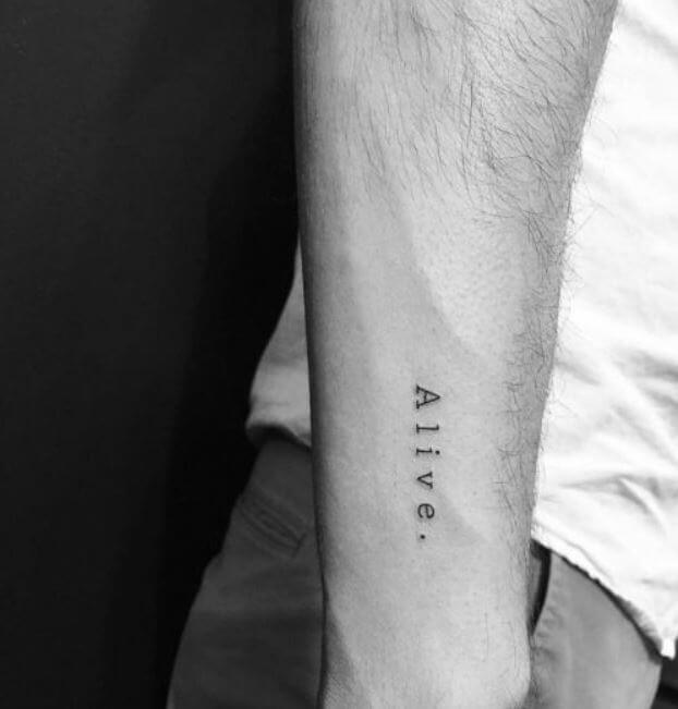 Best One Word Tattoos For Men