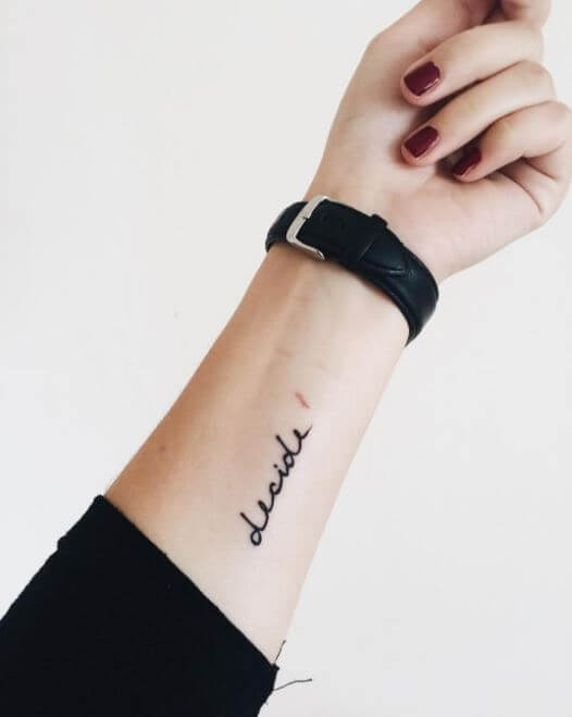 Best One Word Tattoos