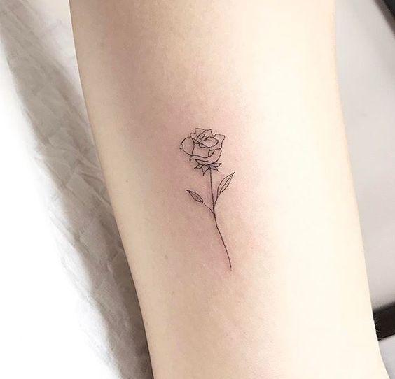 Tattoo single rose 155 Rose