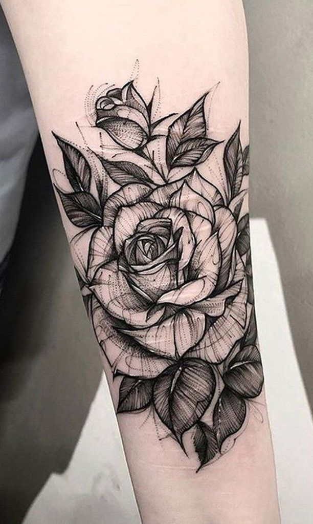 Black And Red Roses Tattoo (6)
