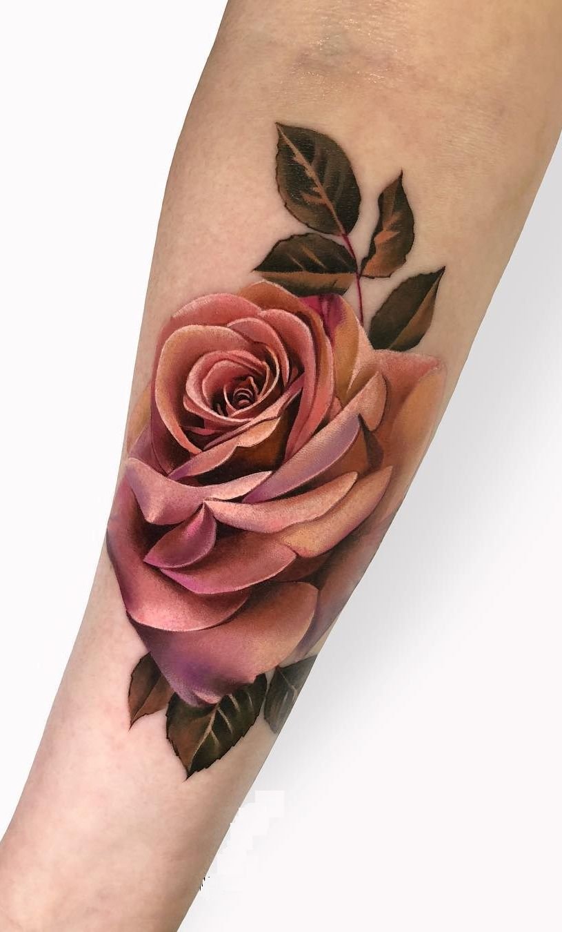 Black And Red Roses Tattoo (7)