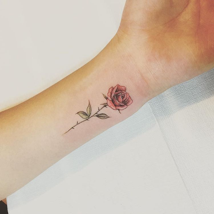 Black And Red Roses Tattoo (9)