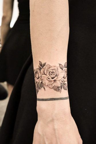 Black And White Rose Tattoos (8)