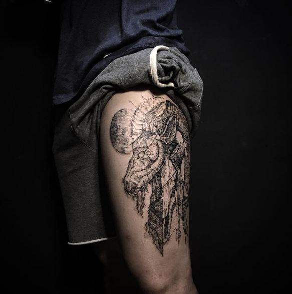 Black Ink Chinese Tattoos