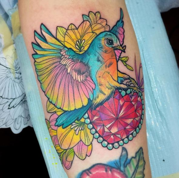 Blue Bird Tattoos