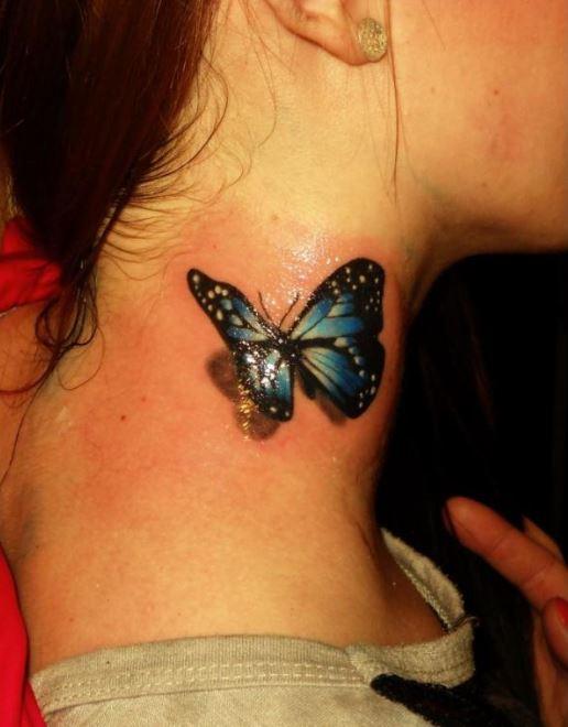 Blue Butterfly Tattoos