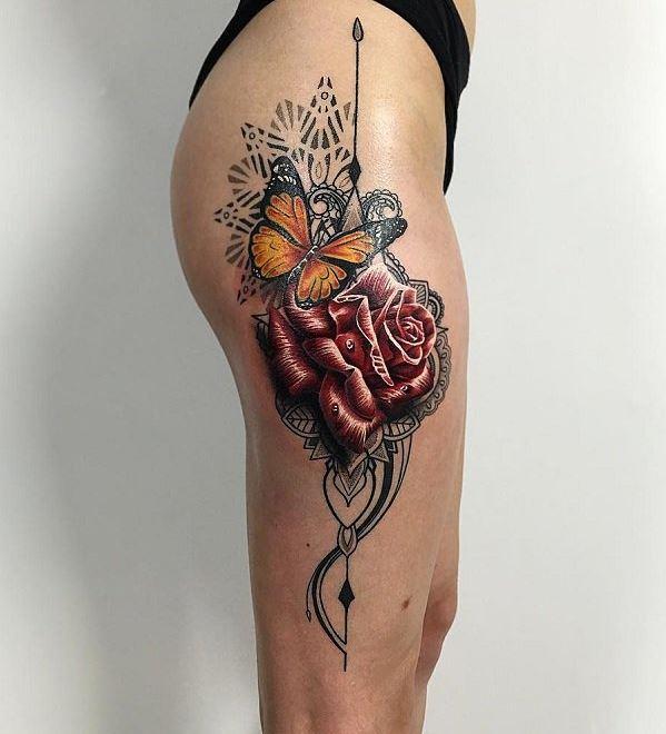 Butterfly Leg Tattoos