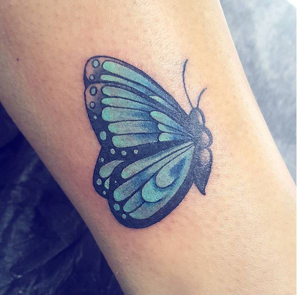 Butterfly Semicolon Tattoos