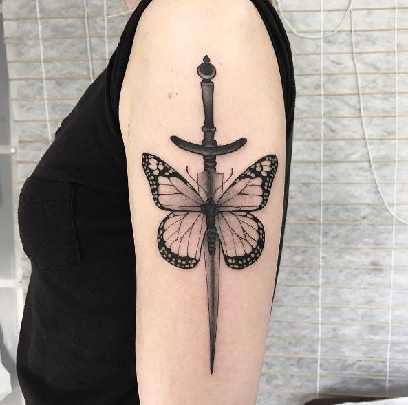 Butterfly Sleeve Tattoos