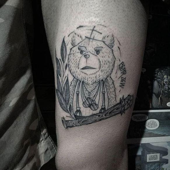 California Bear Jew Tattoos
