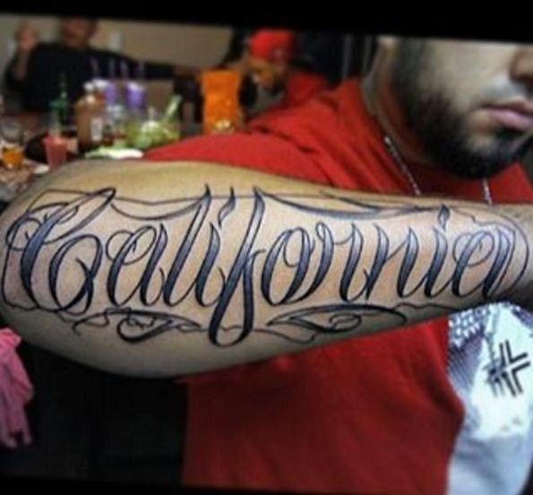 California Font Tattoos