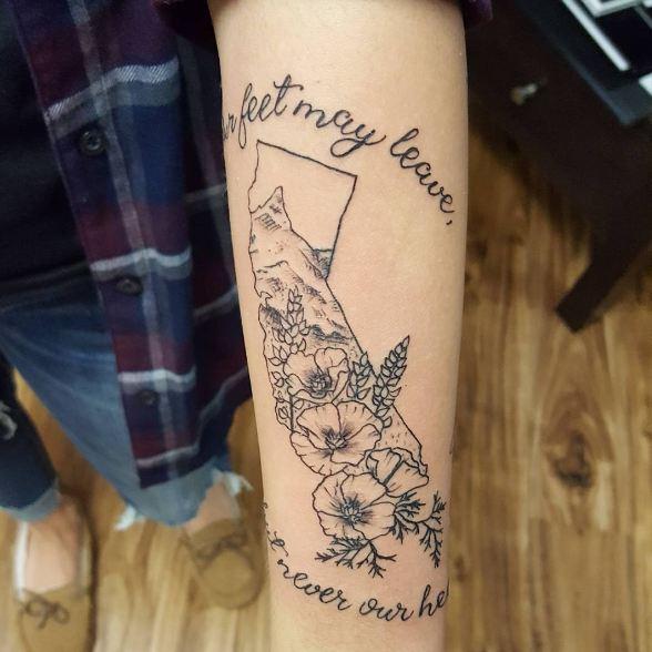 California Quotes Tattoos