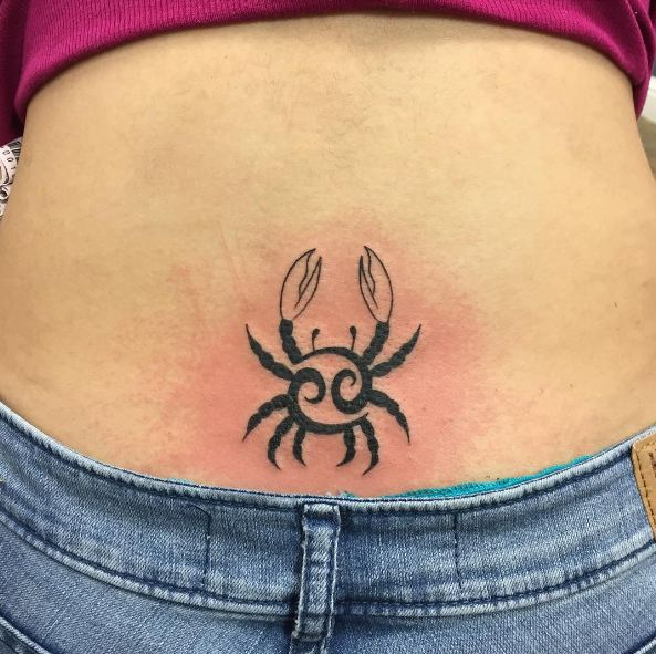 Cancer Horoscope Tattoos Lower Back