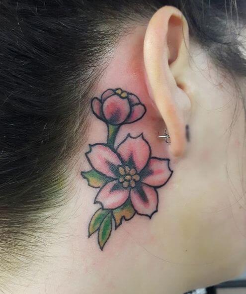 Cherry Blossom Flower Tattoo