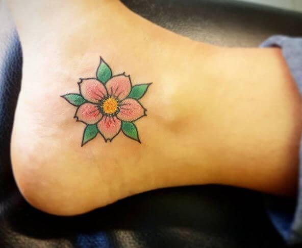 Cherry Blossom Foot Tattoos