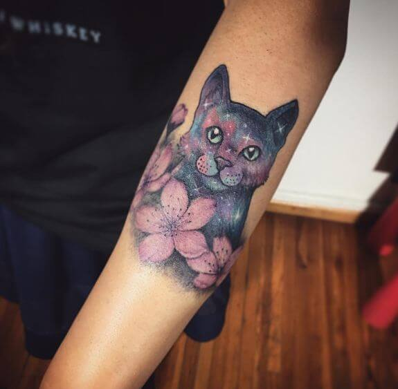 Cherry Blossom Sleeve Tattoo