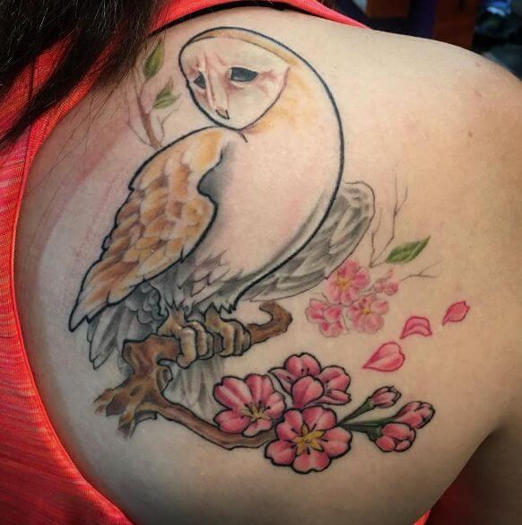 Cherry Blossom Tree Tattoos On Back
