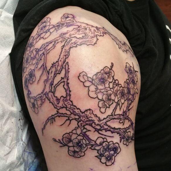 Cherry Blossom Vines Tattoos