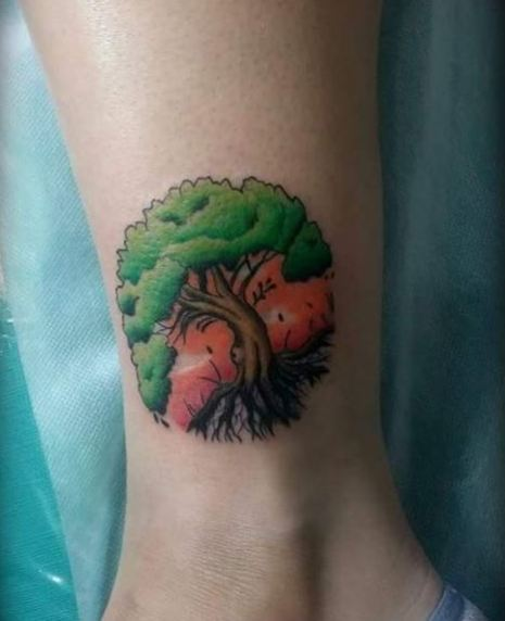 Color Tree Tattoos