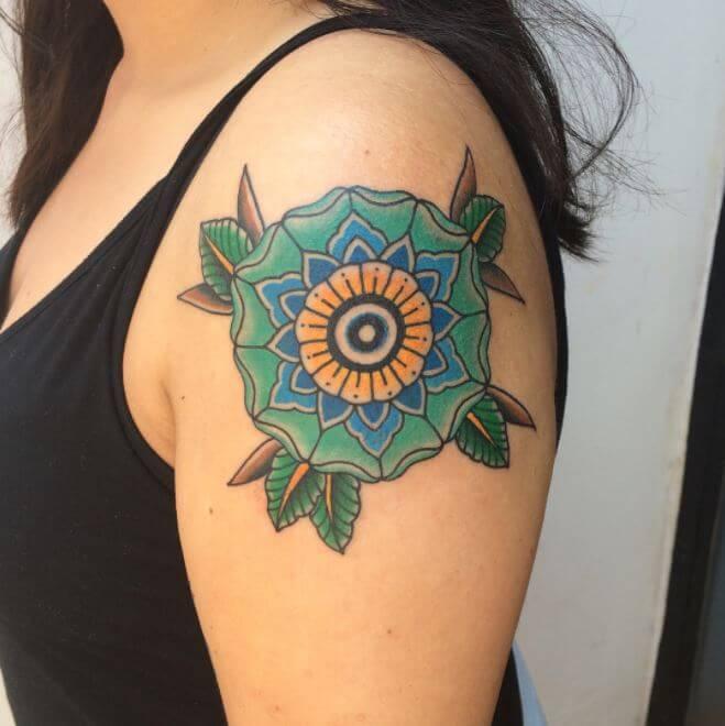 Colored Mandala Tattoo