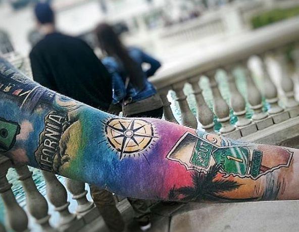 Colorful California Tattoos
