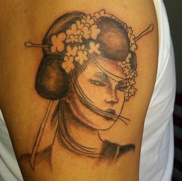 Cool Geisha Tattoos