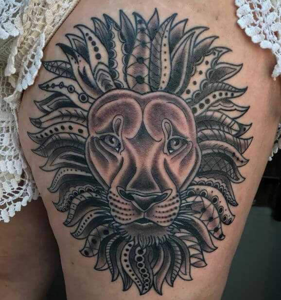 Cool Lion Tattoos