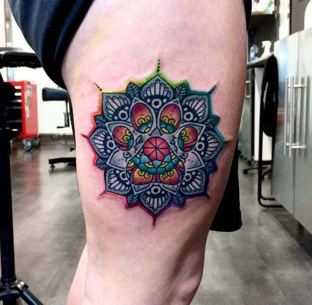 Cool Thigh Tattoos