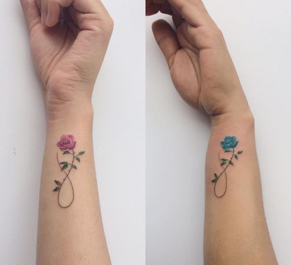 Couple Infinity Tattoos