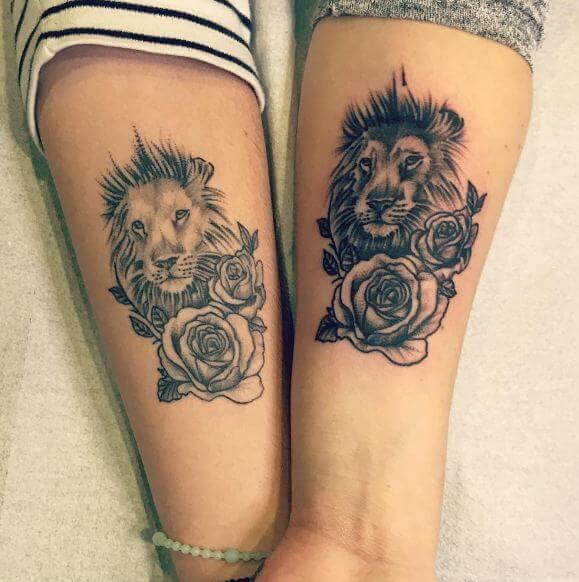 Couple Lion Tattoos