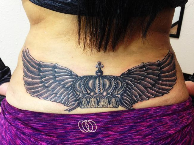 Crown Lower Back Tattoos