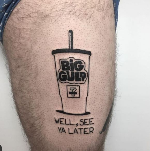 Cup Leg Tattoos