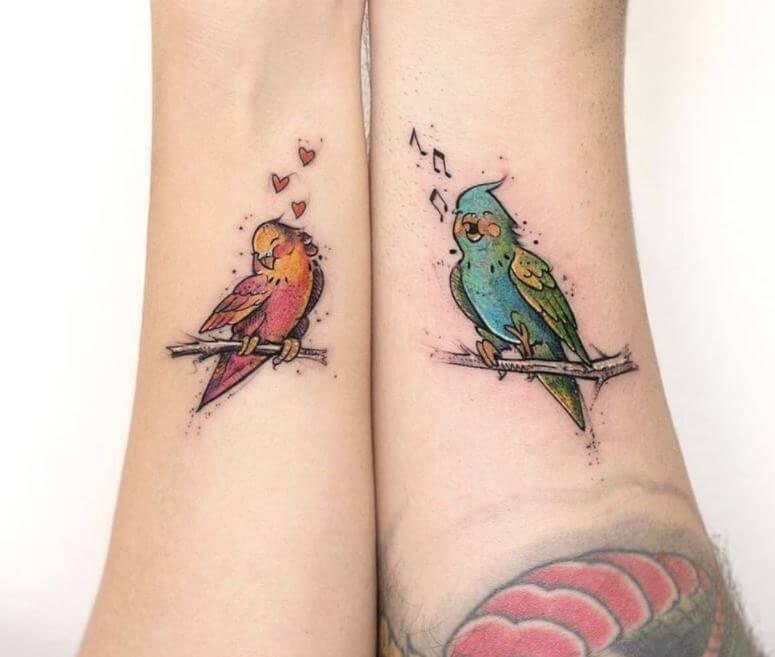 Cute Couple Matching Tattoos
