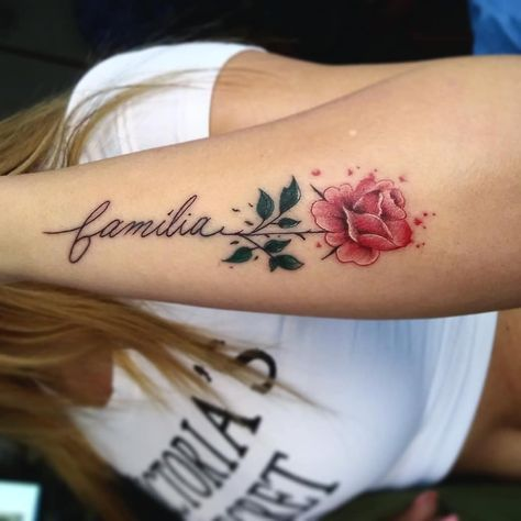 Dark Red Rose Tattoo (1)