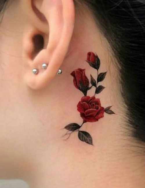Dark Red Rose Tattoo (10)