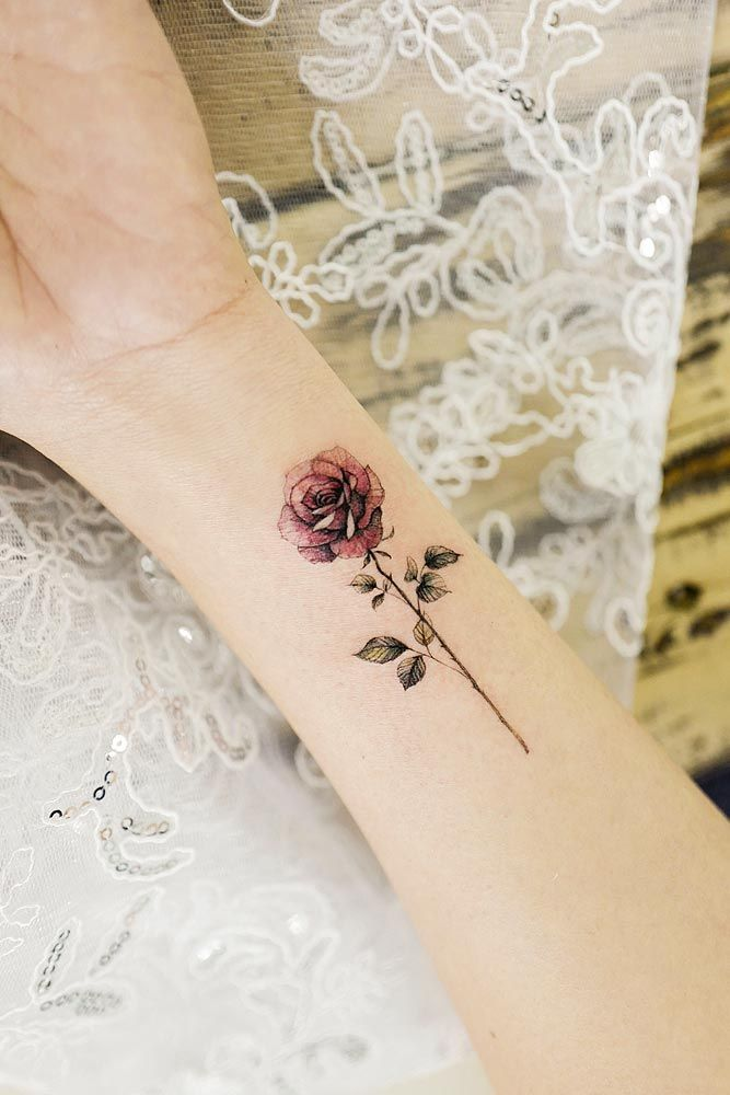 Dark Red Rose Tattoo (6)