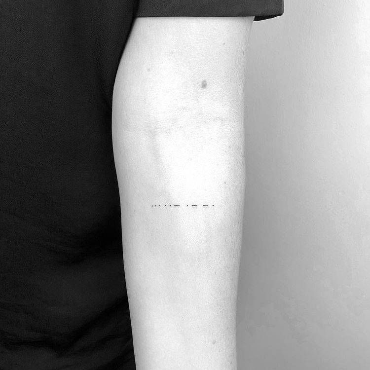Date Of Birth In Roman Numerals Tattoo (101)