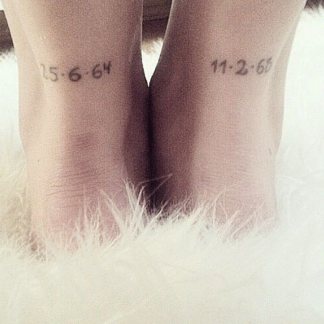 Date Of Birth In Roman Numerals Tattoo (120)