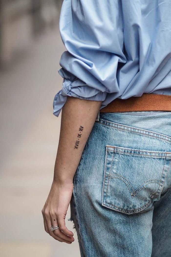 Date Of Birth In Roman Numerals Tattoo (152)
