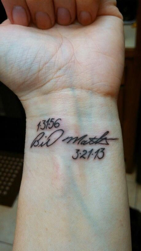 Date Of Birth In Roman Numerals Tattoo (154)