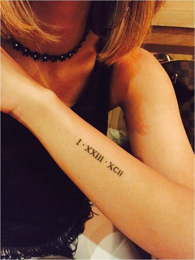Date Of Birth In Roman Numerals Tattoo (157)
