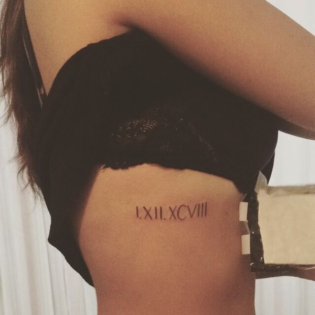 Date Of Birth In Roman Numerals Tattoo (20)