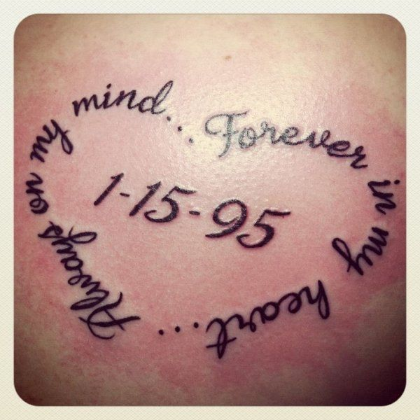 Date Of Birth In Roman Numerals Tattoo (31)