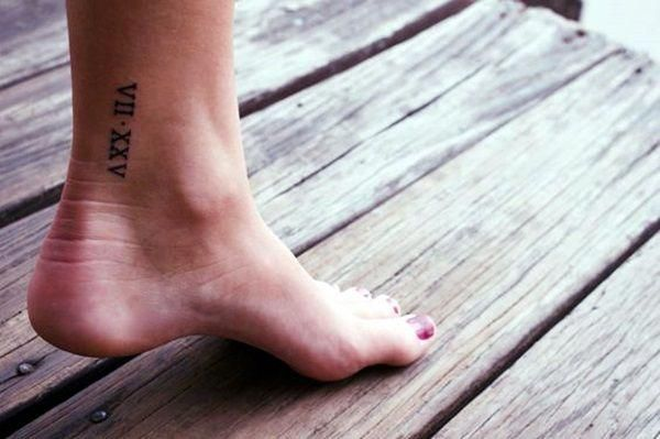 Date Of Birth In Roman Numerals Tattoo (39)