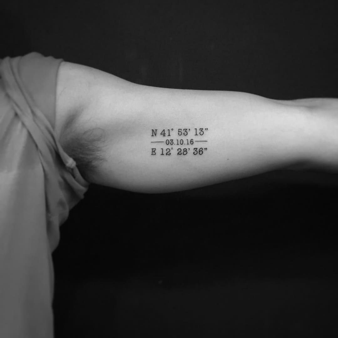 Date Of Birth In Roman Numerals Tattoo (41)