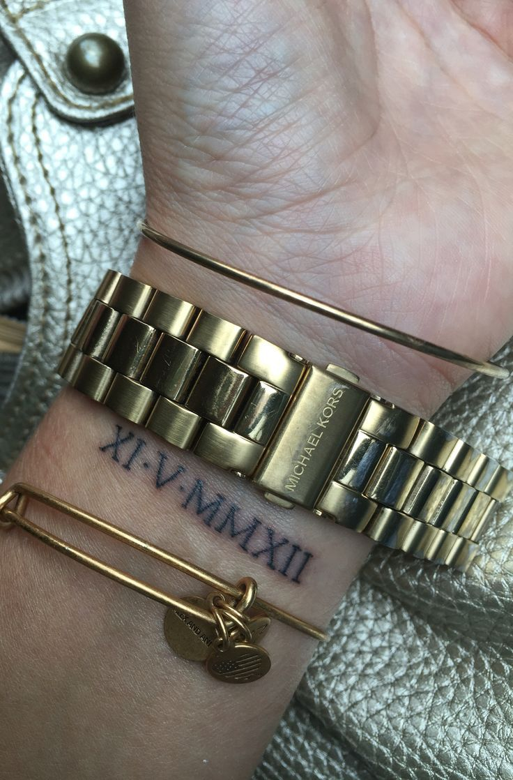 Date Of Birth In Roman Numerals Tattoo (55)